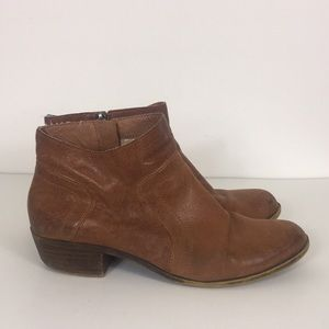Lucky Brand Brown Leather Brolly Ankle Booties